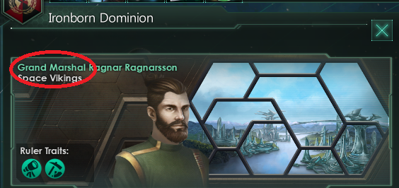 "The title of our emperor's ruler is ""Grand Marshall"""